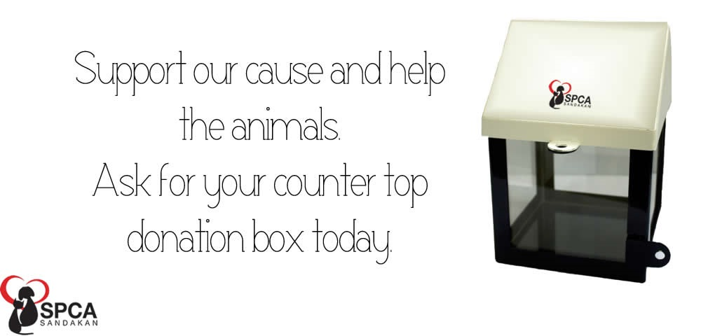 SPCA Sandakan donation box