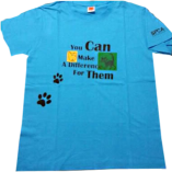 Make A Difference Blue T-Shirt