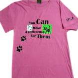 Make A Difference Pink T-Shirt