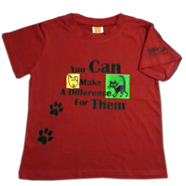 SPCA Make a Difference Red T-Shirt