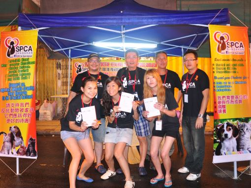 Volunteers at SPCA Prevention Booth Sandakan