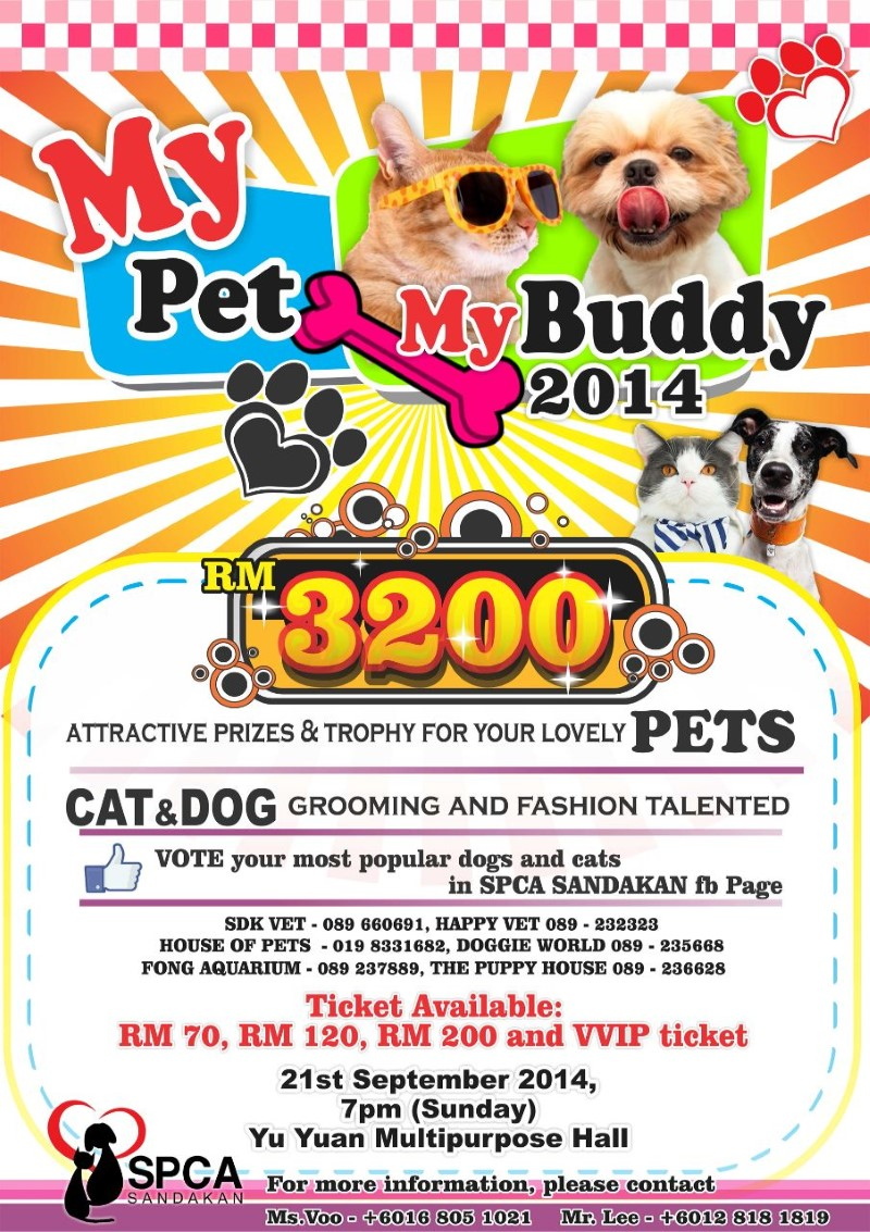 My Pet My Buddy 2014 Contest Flyer
